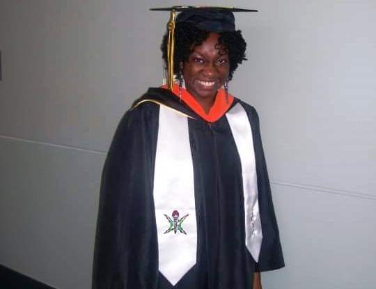 Ericka Pemberton at her graduation from VCU in 2010.