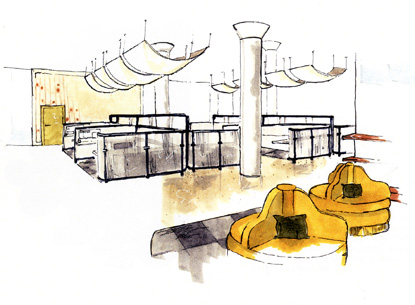 ... interior design Rendering by Elliot Freeman, who received a bachelor of  fine arts degree from the VCU