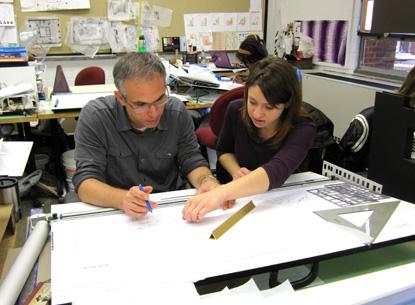 Rob Ventura Assistant Professor Of Interior Design And Lisa Gerben A Senior Majoring