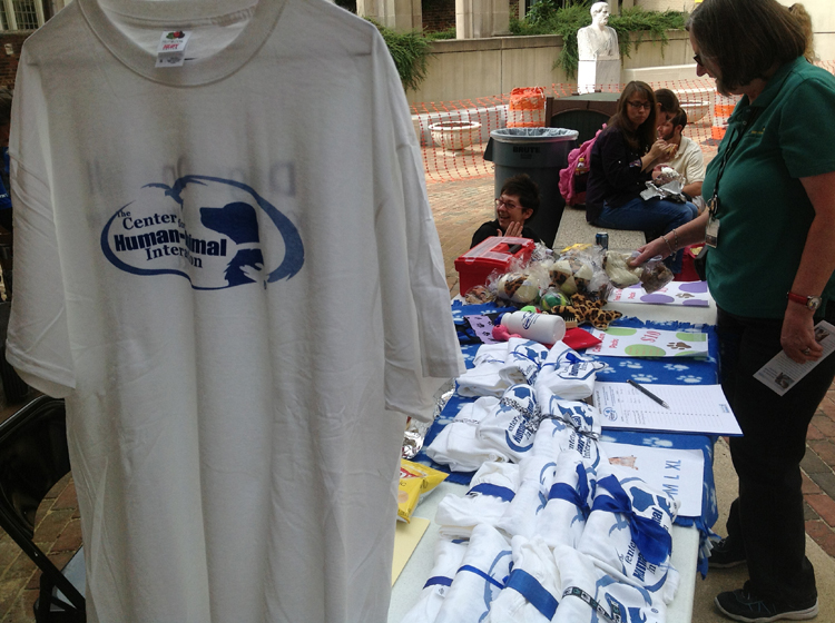 Center for Human Animal Interaction merchandise table.